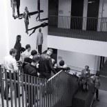 Buurtbewoners verlaten de meeting