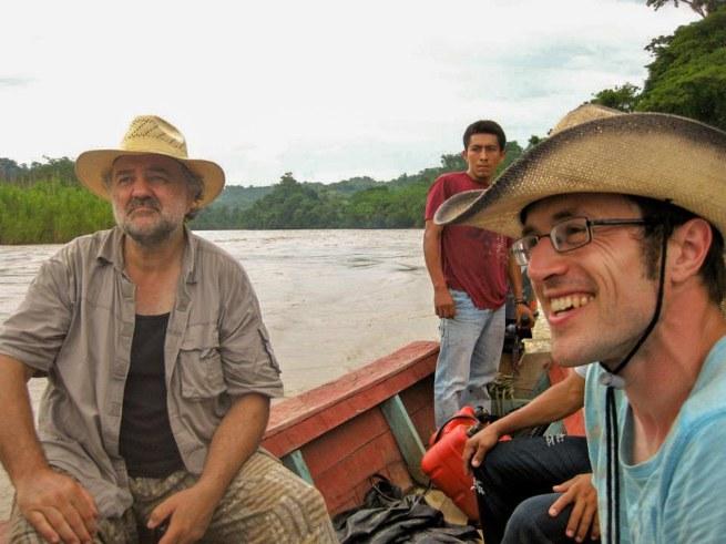 Jos Vandikkelen en Jan Schelstraete op de Rio Chichoy